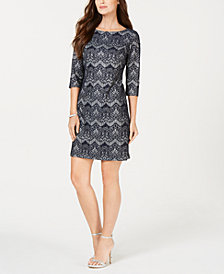 Jessica Howard Petite Allover Lace Sheath Dress