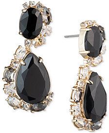 Carolee Gold-Tone Crystal & Stone Swirl Drop Earrings