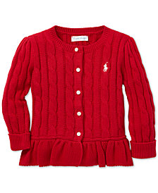 Polo Ralph Lauren Baby Girls Cable-Knit Cotton Cardigan