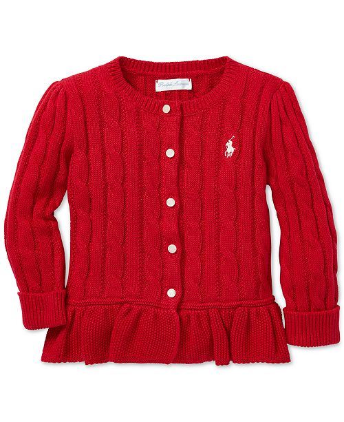 b0cb0cc501c8 Polo Ralph Lauren Baby Girls Cable-Knit Cotton Cardigan   Reviews ...