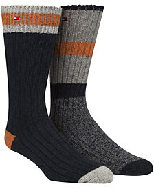 Tommy Hilfiger Men's 2-Pk. Cabin Crew Socks