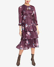 RACHEL Rachel Roy Floral-Print Ruffled Midi Dress