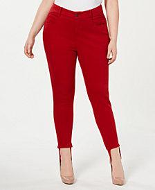 YSJ Plus Size Stirrup Skinny Ankle Jeans