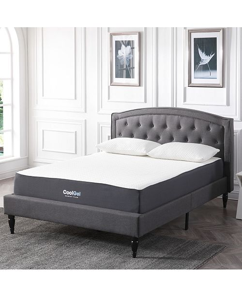 "Chic Couture Sleep Trends Ladan Twin 10.5"" Cool Gel Memory Foam Cushion Firm Pillow Top Mattress"