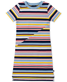 Tommy Hilfiger Big Girls Striped Ribbed Dress