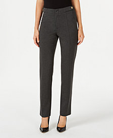 Charter Club Ponté-Knit Tab-Waist Pants, Created for Macy's