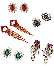 Deepa Future is Bright Gold-Tone Crystal Earrings Separates