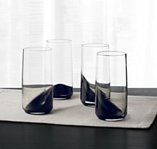 Hotel Collection Set of 4 Highball Glasses with Black Ombre, Created for Macy's