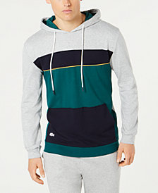 Lacoste Men's Logo Colorblocked French Terry Hoodie, Created for Macy's