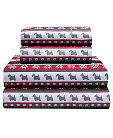Dog Gone Good Queen 90 Gsm Sheet Set, Flat Sheet 90X104, Fitted Sheet 60X80X14, 21X31 2 Pc