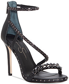 Jessica Simpson Janix Chain-Trim Sandals