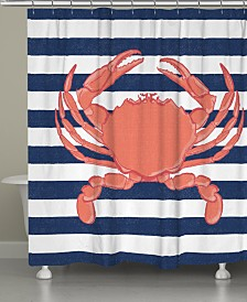 Crab Stripe Shower Curtain
