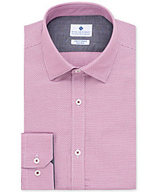 Ryan Seacrest Distinction™ Men's Ultimate Slim-Fit Non-Iron Performance Stretch Dobby Check Dress Shirt, Created for Macy's