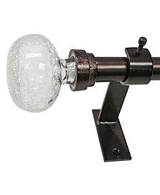 Decopolitan 1-Inch Knob Telescoping Double Curtain Rod Set, 36 to 72-Inch, Dark Sienna