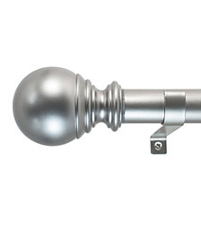 Decopolitan 1-Inch Ball Telescoping Curtain Rod Set, 72 to 144-Inch, Silver