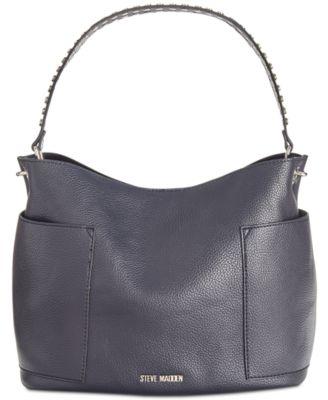 7abb063d1c88 Steve Madden Boho Studded Strap Hobo   Reviews - Handbags   Accessories -  Macy s