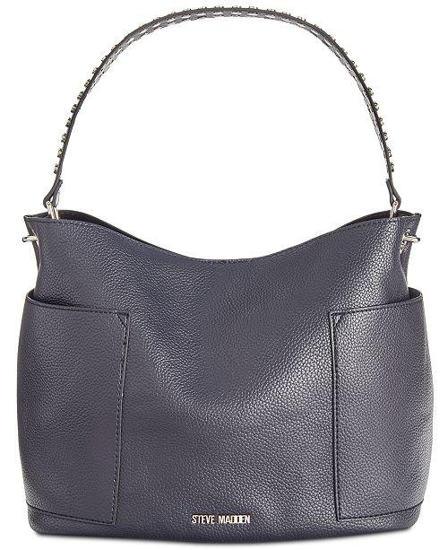 13f4cc0981 Steve Madden Boho Studded Strap Hobo   Reviews - Handbags ...
