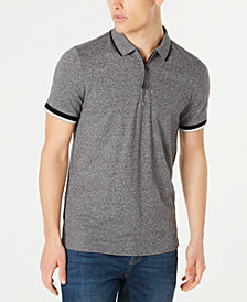 Kenneth Cole Men's Marled Zip Polo