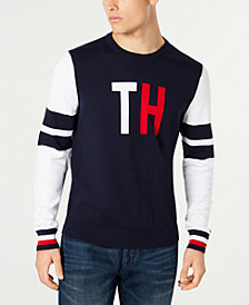 Tommy Hilfiger Men's Clodfetter Colorblocked Logo Sweater, Created for Macy's