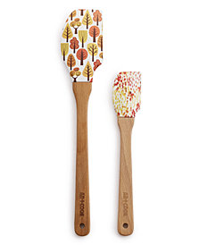 Art & Cook 2-Pc. Wood and Silicone Spatula Set