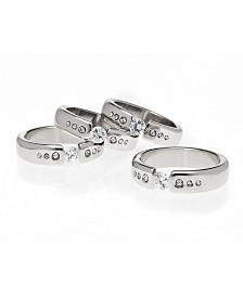 Godinger Diamond Band Napkin Rings, Set of 4
