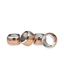 Godinger Copper Hammered Napkin Rings, Set of 4