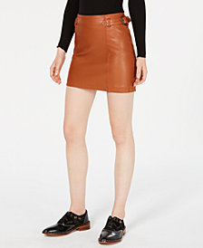 Free People Charlie Faux-Leather Mini Skirt