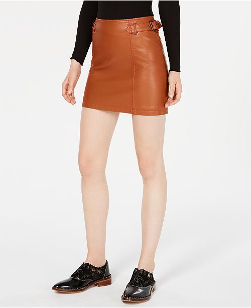 b49d08dc39 Free People Charlie Faux-Leather Mini Skirt & Reviews - Skirts ...