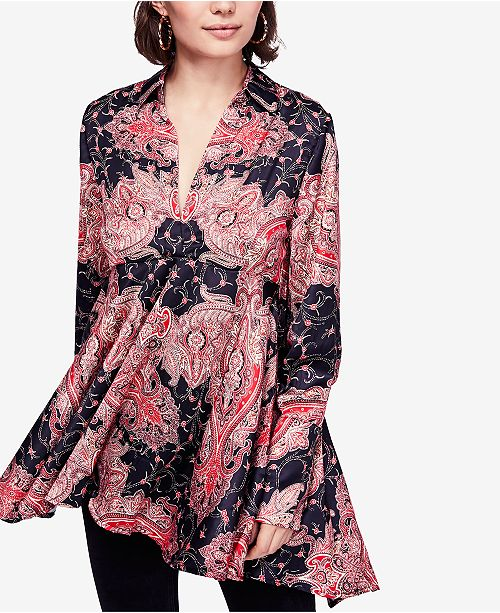 0e7495c5cb7 Free People Field of Butterflies High-Low Trapeze Top & Reviews ...