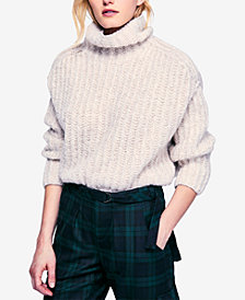 Free People Fluffy Fox Turtleneck Sweater
