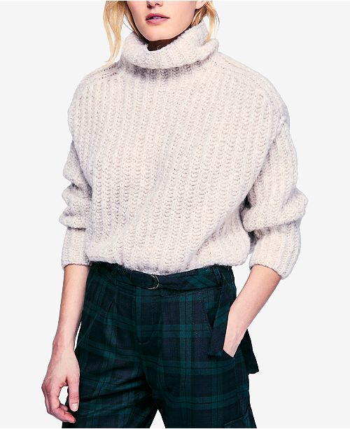 Free People Fluffy Fox Turtleneck Sweater   Reviews - Sweaters ... a09b58b87