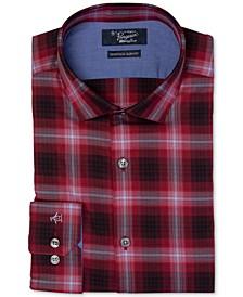 Men's Heritage Slim-Fit Comfort Stretch Plaid Dress Shirt