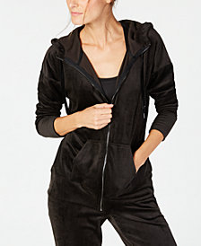 Ideology Velour Zip Hoodie, Created for Macy's