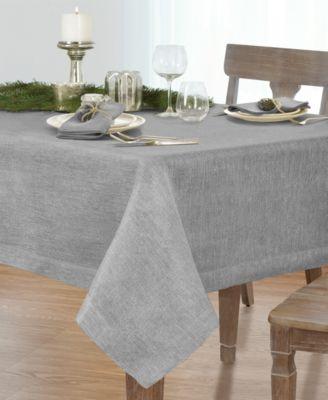 La Classica Luxury Metallic Linen Fabric Tablecloth, 70
