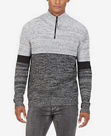 Kenneth Cole Men's Colorblocked 1/4-Zip Sweater