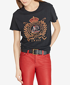 Polo Ralph Lauren Crest Graphic Cotton T-Shirt