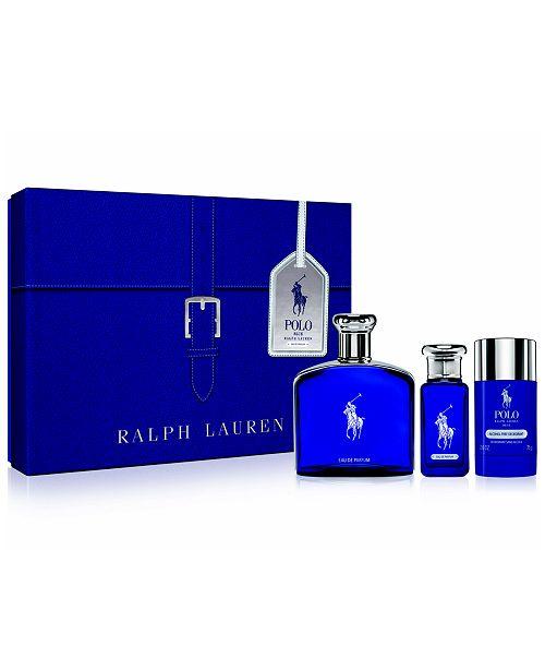 36d3e8aecaa2 Ralph Lauren Men s 3-Pc. Polo Blue Eau de Parfum Gift Set ...