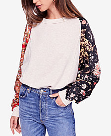 Free People Vintage Affair Cotton Printed Sweatshirt