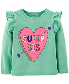 Carter's Toddler Girls Super Sis-Print T-Shirt