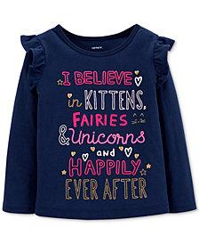 Carter's Toddler Girls Slogan Graphic-Print T-Shirt