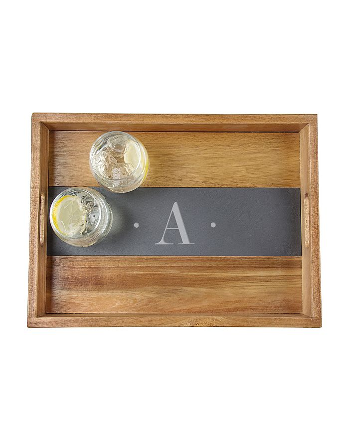 Cathy's Concepts - Personalized Acacia and Slate Tray