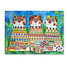 Oxana Ziaka 'Magic Happy Cats!' Canvas Art Collection