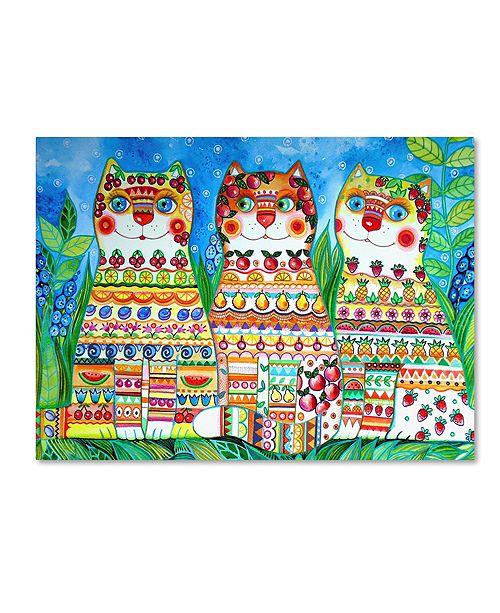 "Trademark Global Oxana Ziaka 'Magic Happy Cats!' Canvas Art - 19"" x 14"" x 2"""