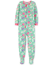 Carter's Little & Big Girls Donut-Print Footed Pajamas