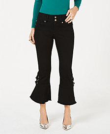Thalia Sodi Cropped Tie-Detail Jeans, Created for Macy's