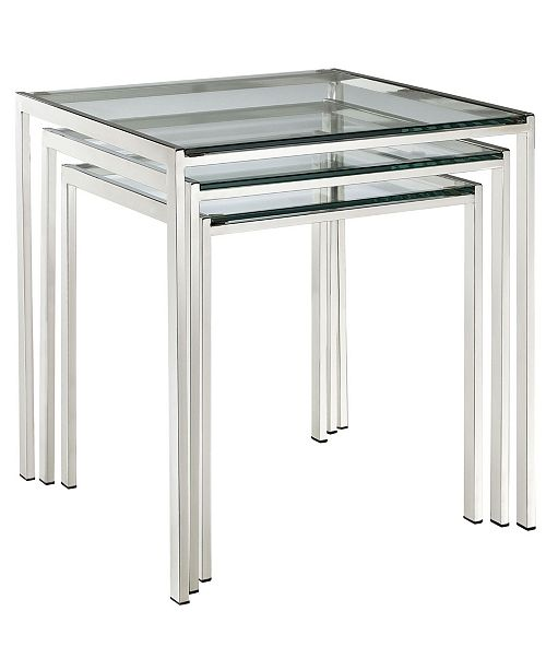 Modway Nimble Nesting Table in Silver
