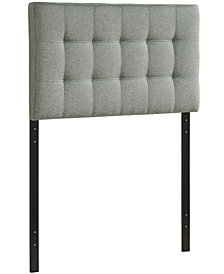 Tarah Full Fabric Platform Bed with Squared Tapered Legs in Beige