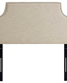 Laura Twin Upholstered Fabric Headboard