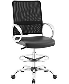 Modway Command Mesh and Vinyl Drafting Chair