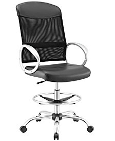 Modway Emblem Mesh and Vinyl Drafting Chair
